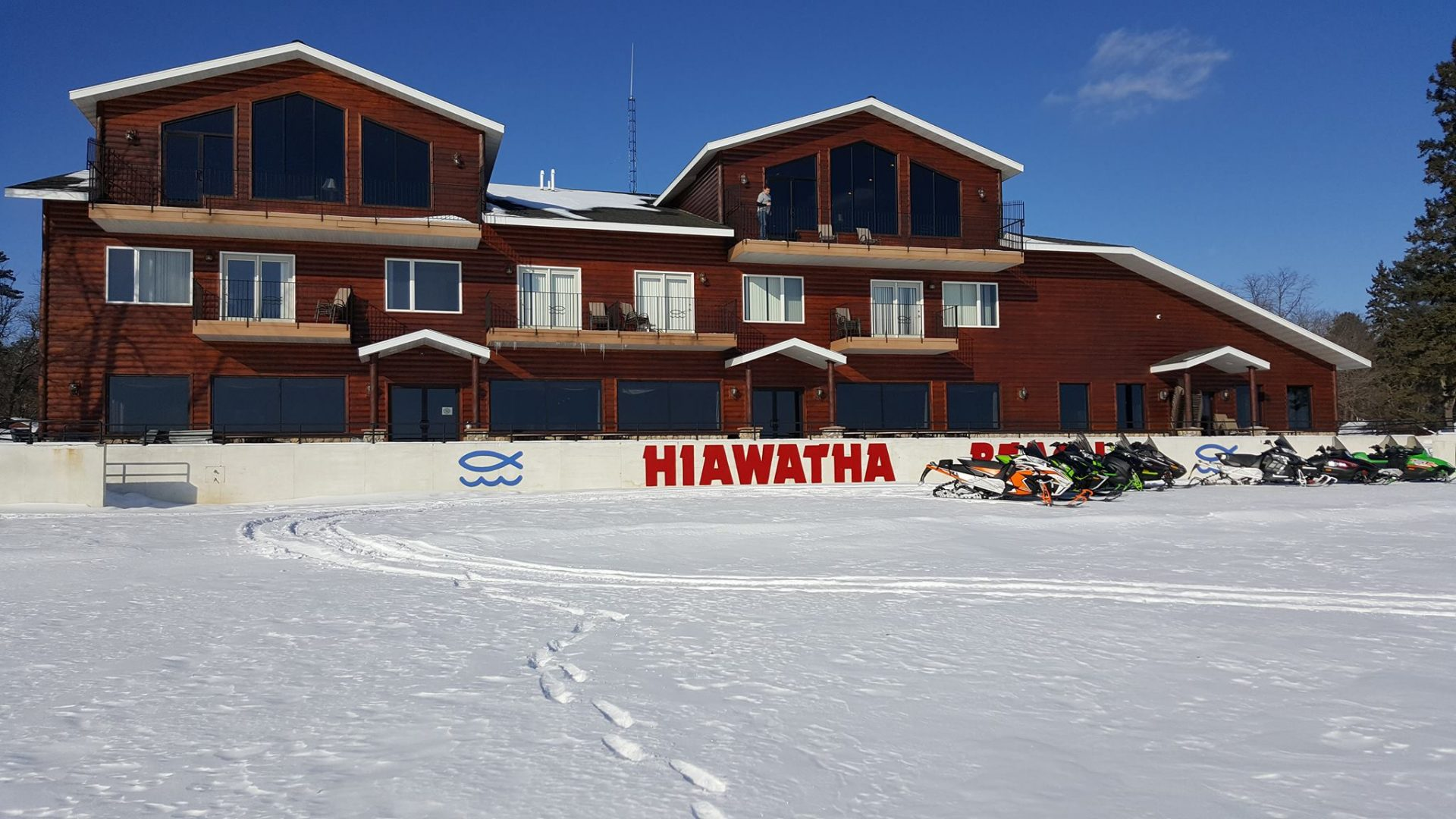 Winter Fun Hiawatha Beach Resort